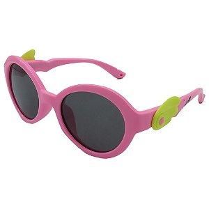 Óculos de Sol Infantil Zjim Silicone Redondo Rosa
