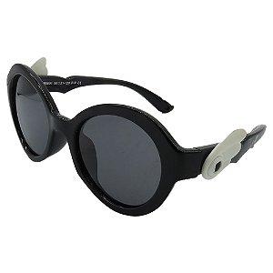 Óculos de Sol Infantil Zjim Silicone Redondo Preto