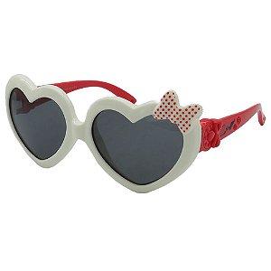 Óculos Infantil Zjim Silicone Coração Branco e Vermelho