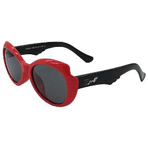 Óculos Infantil Zjim Silicone Arredondado Vermelho e Preto