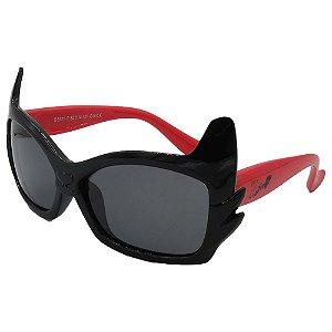 Óculos Infantil Zjim Silicone Quadrado Preto e Vermelho