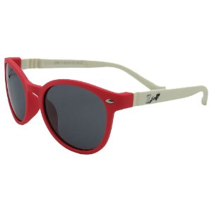 Óculos Infantil Zjim Silicone Arredondado Vermelho e Branco