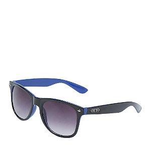 Óculos Solar Otto preto e azul - D008