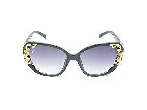 Óculos de Sol Prorider Preto com Detalhe Dourado - 5021