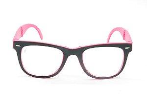 Óculos de grau Prorider preto com rosa 5211