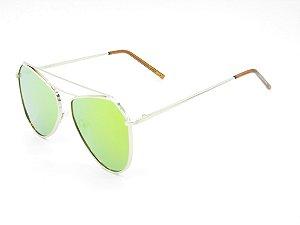 Óculos solar Prorider dourado com lente espelhada colors 5228