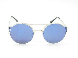 Óculos solar Prorider prata com lente espelhada 5230