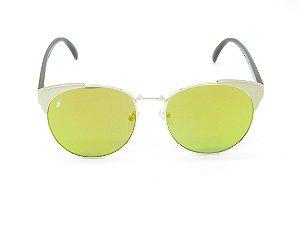 Óculos de Sol Prorider Dourado com Haste Marrom - 5232