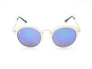 Óculos solar Prorider dourado com lente espelhada colors 5246