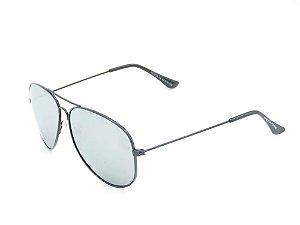 Óculos solar Prorider preto com lente espelhada prata H03026C4