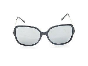 Óculos de Sol Prorider Preto Fosco com Lente Espelhada Prata - YD1762C4