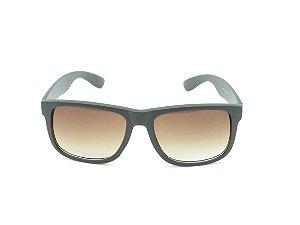 Óculos solar Otto preto fosco com lente degrade marrom Z4165