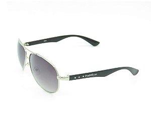 Óculos solar Prorider prata com preto 8059-1