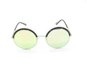 Óculos de Sol Paul Ryan Dourado Animal Print - D6936C4