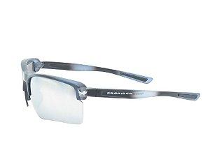 Óculos solar Prorider preto fosco com detalhes brancos na haste POCAHONTAS