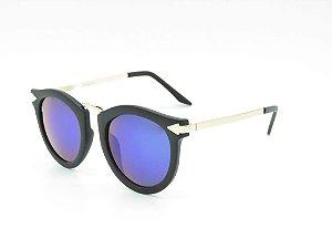 Óculos solar Prorider preto e dourado com lente gradiente YD1666