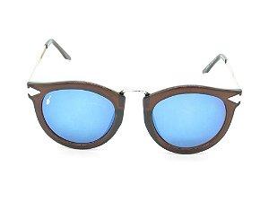Óculos solar Prorider marrom e dourado  YD1666C4