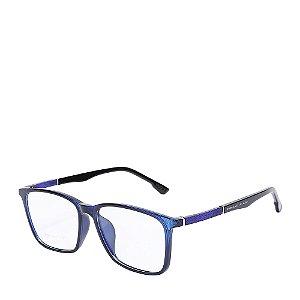 Óculos Receituário azul e preto 6009-1