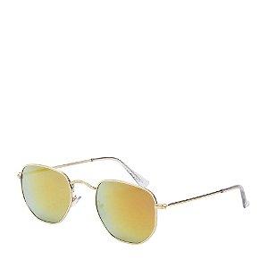 Óculos de Sol Prorider Dourado com lente gradiente laranja e preto H01544C2