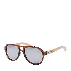 Óculos de Sol Prorider marrom com detalhe em madeira DEFY