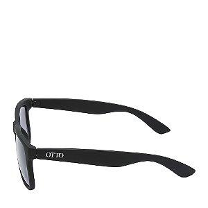 Óculos Solar Otto Preto Fosco com lente degradê 4165