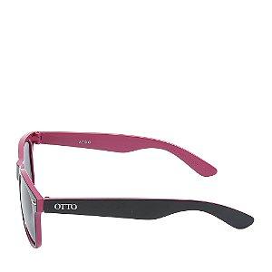 Óculos Solar Otto Preto Fosco e vermelho AERO