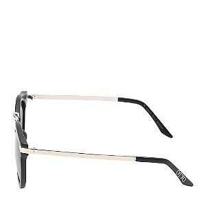 Óculos Solar Otto Preto Fosco&dourado com lente gradiênte CURE