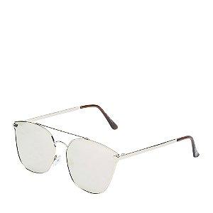 Óculos de Sol Prata com lente espelhada DAMP