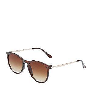 Óculos de Sol Otto Dourado e marrom HEAVEN