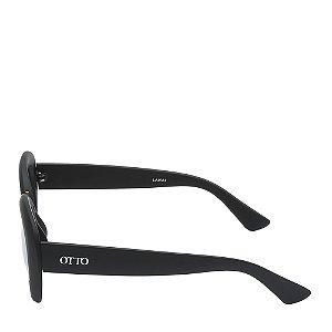 Óculos Solar Otto preto fosco com detalhe dourado LANAI