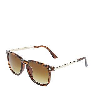 Óculos de Sol OTTO - Marrom Fosco com Dourado - YY12
