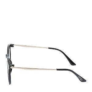 Óculos Solar Otto Preto Fosco e dourado Z20