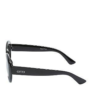 Óculos Solar Otto Preto Fosco e dourado jELLYFISH