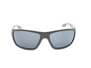 Óculos de Sol Paul Ryan Preto Fosco com Detalhe Vermelho - 7410