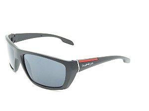 Óculos Solar Paul Ryan Preto Fosco com detalhe vermelho 7410