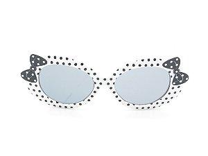 Óculos solar infantil Amy loo Preto e Branco - 7418