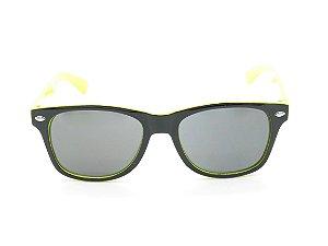 Óculos Solar Infantil Amy Loo Preto e Amarelo - 7422
