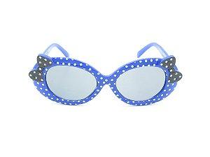 Óculos Solar Infantil Amy Loo Azul com Bolinhas e Preto - 7378
