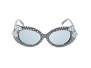 Óculos de Sol Infantil Amy loo Preto e Branco - 7380