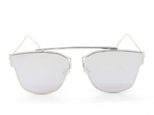Óculos de Sol Paul Ryan Prata com Lente Espelhada Rosa - KAYAKAN