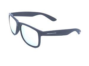 Óculos solar Prorider preto fosco com lente espelhada prata 4165