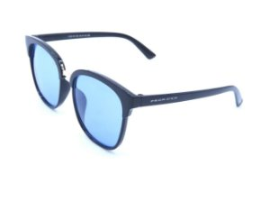 Óculos solar Prorider preto com detalhe dourado e lente azul CJ6110C5