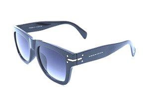 Óculos solar Prorider preto com detalhes em prata e lente degrade FY82003C1