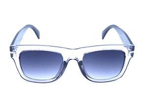 Óculos Solar Bad Rose Cinza Translúcido com Haste Preta - FY82003C5