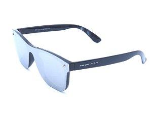 óculos Bad Rose preto com lente espelhada prata RF1024C4