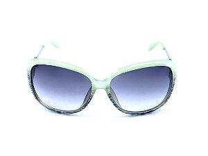 Óculos solar Prorider verde com degrade preto e haste prateada 902-C21