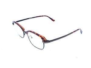 Óculos de grau Prorider animal print com dourado e preto