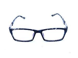 Óculos de grau Prorider animal print azul com prata 2874-C27