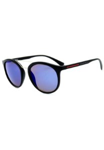 Óculos de Sol Prorider Preto Fosco com Detalhe Vermelho e Prata - B88-1299
