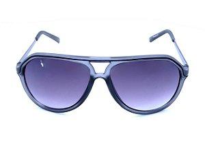 Óculos solar Polo Walker translúcido acinzentado e prata fosco com lente degrade